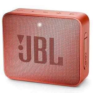 Caixa de som Bluetooth JBL GO 2 Cinnamon Original