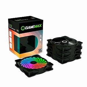 Kit Cooler Gabinete Gamemax CL400 4 Fan X 120x120x25mm RGB 21Leds C/Controle Remoto