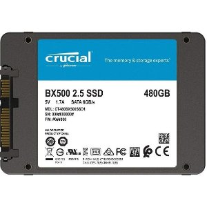 "HD SSD 480gb Crucial 2.5"" BX500 CT480BX500SSD1"
