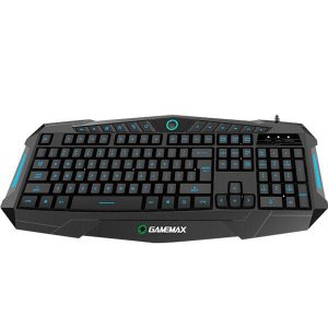 Teclado Gamer Gamemax Multimidia KG196 USB Led 3 cores