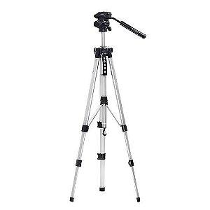 Tripe de Alumínio Profissional universal para Câmera 1,60m e nível
