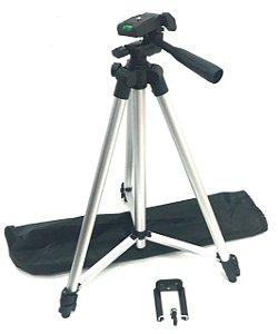 Tripe de Alumínio profissional universal para Câmera 1,30M e nível DEX - F-3110