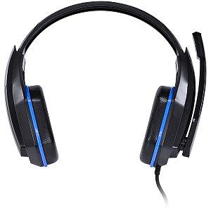 Headset Gamer Vx Gaming Ogma com microfone Preto E Azul