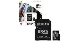 Cartão de Memória Micro Sd 64gb Classe 10 Canvas Kingston Select Plus SDCS2/64GB