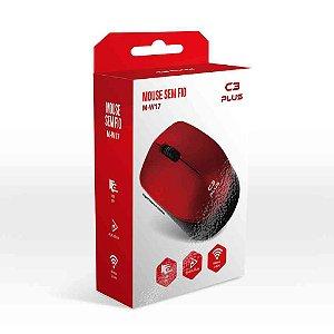 Mouse Sem Fio C3TECH M-W17RD Vermelho