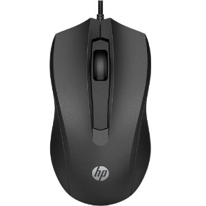 Mouse Optico USB - HP 100 Preto