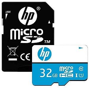 Cartão De Memória Micro Sd 32gb 100/mbs Classe 10 HP HFUD032