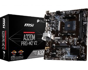 Placa Mãe MSI A320M PRO-M2 V2 Socket AM4 Chipset AMD A320