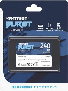 "HD SSD 240gb Patriot Burst SATA 3 - 2.5"" PBU240GS25SSDR"