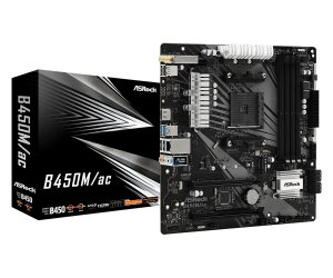 Placa Mãe Asrock (AM4) B450M/AC COM WI-FI Integrado