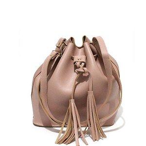 Bolsa Saco Pequena Feminina Alça Tiracolo - Rosê