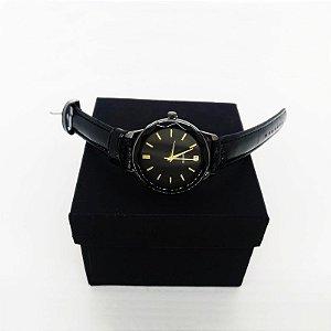 Relógio Feminino Pulseira Couro - Preto