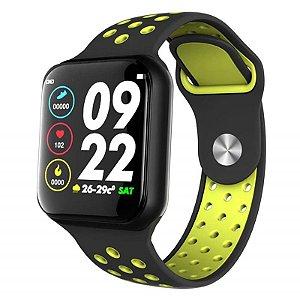 Relógio Smartwatch F8 - Preto e Verde
