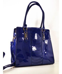 Bolsa Azul Verniz