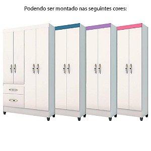Guarda roupa Moval Madri 4 portas 2 gavetas Flex