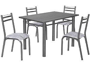 Mesa Ciplafe Plaza 120 com 4 cadeiras TP MDP