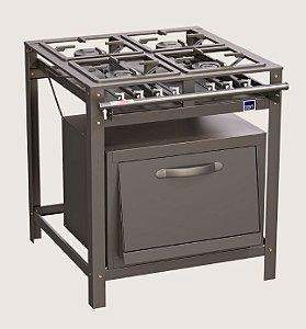 Fogão Tron 0094 industrial 4 bocas com forno