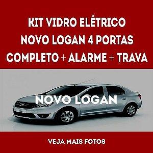 Kit Vidro Elétrico Novo Logan 4 Portas Completo+trava+alarme