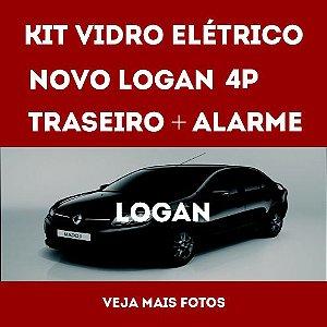 Kit Vidro Eletrico Novo Logan 4 Portas Traseiro + Alarme