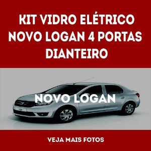 Kit Vidro Eletrico Novo Logan 4 Portas Dianteiro