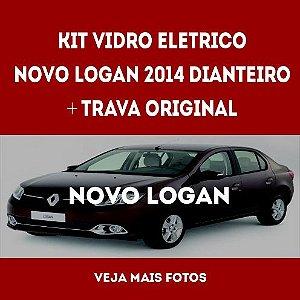 Kit Vidro Eletrico Novo Logan 2014 Dianteiro+trava Original