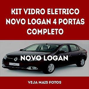 Kit Vidro Eletrico Novo Logan 4 Portas Completo