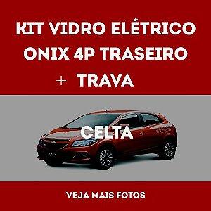 Kit Vidro Eletrico Onix 4 Portas Traseiro + Trava