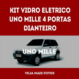 Kit Vidro Eletrico Uno Mille 4 Portas Dianteiro