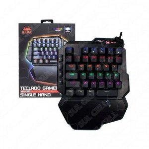 Teclado Gamer Mecanico Single Hand Led RGB (KP-2062) Fs