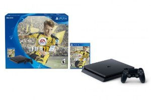 PLAYSTATION 4 SLIM 500 GB PRETO+ fifa 17