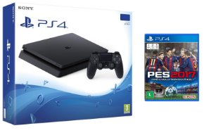 PLAYSTATION 4 SLIM 500 GB PRETO + PES 17