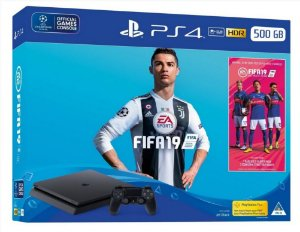 PLAYSTATION 4 SLIM 500 GB PRETO + FIFA 19