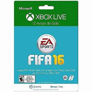 xbox 360 Live Gold 12 Meses Fifa 16 + 1 Mês Ea Access