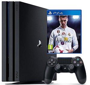 PLAYSTATION 4  PRO 4K  HD 1 TERA + FIFA 18