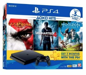 PLAYSTATION 4 SLIM 500 GB + 03 JOGOS