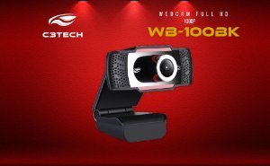 WEBCAM 1080p FULL HD USB WB-100BK C3 TECH B
