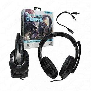 Fone de Ouvido Headset Gamer P2 c/ Controle de Volume Sumexr (SX-GM1)-S