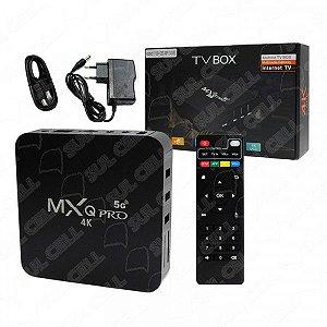 Smart TV Box 4K MXQ Pro Hdmi Wi-Fi Android 11.1 Memoria Interna 128GB 8GB Ram