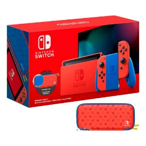 Console Nintendo Switch 32GB Mario Red e Blue Edition (extend battery) - Nintendo