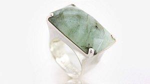 Anel Prata Pedra Esmeralda - 402
