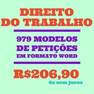 979 modelos de petições em formato Word - Direito do Trabalho