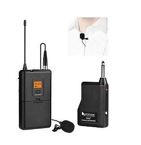 Microfone Lapela s/ Fio Fifine K037 p/ Camera, Celular, Caixa de Som