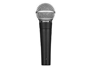 Microfone Shure SM58 Dinâmico c/ fio - P/ Voz e backing