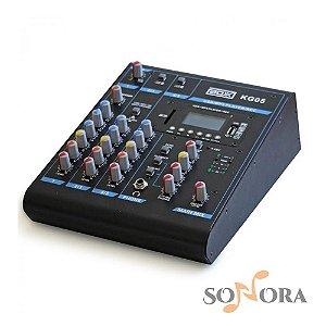Mesa de Som Boxx KG05 5 Canais Mixer com Efeitos