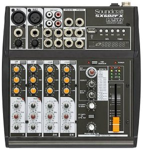 Mesa de Som Soundcraft SX602FX USB