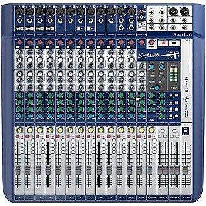 Mesa de Som Soundcraft Signature 16 USB - 16 Canais