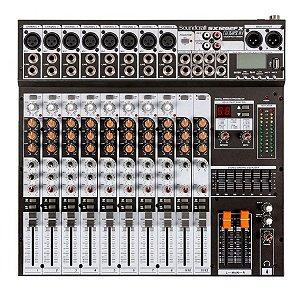 Mesa de Som 12 Canais Soundcraft SX1202FX USB Bivolt