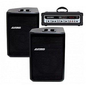 """Kit com 2 Caixas de som CE Datrel 12"""" + 1 Cabeçote HDS 500 Blue"""