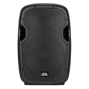 """Caixa de Som Ativa Pro Bass 15"""" 800W + Suporte + Microfone - Elevate"""
