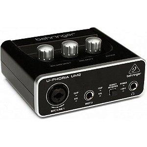 Interface de áudio USB U-Phoria UM2 - Behringer